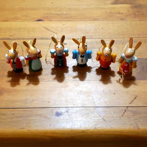 "Easter Tree Rabbit Ornaments 2"" New!"